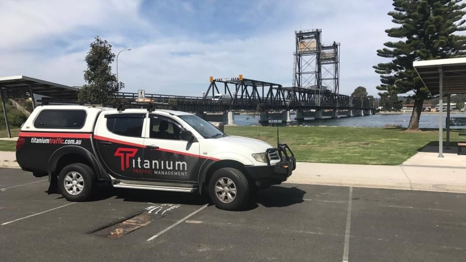 Traffic Control vehicle in Batemans Bay