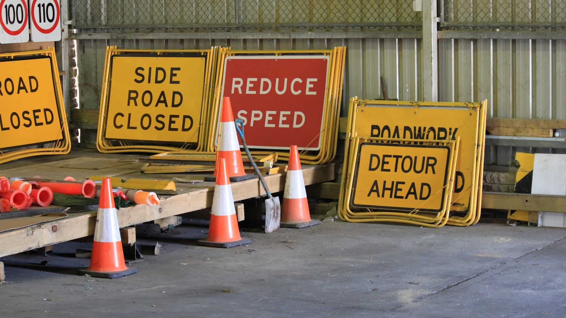 Traffic Control Signage and equipment